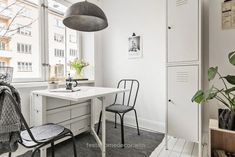 59 Inspiring Scandinavian Dining Room Design for Small Space - About-Ruth Ikea Glass Dining Table, Ikea Norden Table, Dining Table Height, Ikea Dining Room, Ikea Table, Dining Room Design, Ikea Small Spaces, Apartment Makeover, Studio Apartment Decorating