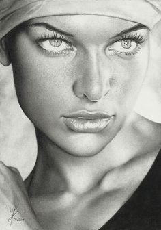 Milla by Marcusrafaelft - pencil drawing