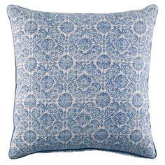 John Robshaw Textiles - Mandu Lapis Decorative Pillow - Madura - PILLOWS
