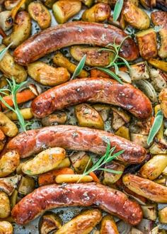 Baked Sausages with Apples Sheet Pan Dinner - Jo Cooks