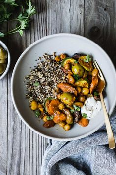 Full of carrots and zucchini stewed up with spices, this Moroccan summer vegetable tagine is comforting and full of flavor without feeling overly rich.