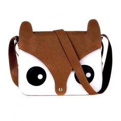 7e3d77461c13 Owl Fox Face Shaped Animal Themed Cross body Shoulder Bag for Women in  Brown #WomensShoulderbags
