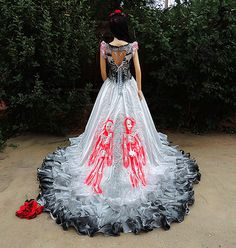 Skull Wedding Dress. Full Size Of Wedding Cakeskull Print Wedding ...