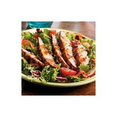 Grilled Chicken Salad ❤ liked on Polyvore featuring food, food and drink, food & drink and comida