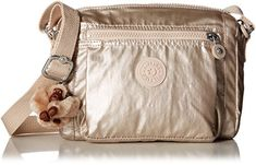 Kipling Chando Small Metallic Crossbody Bag Sparkle Gold ** Details can be found by clicking on the image. (This is an affiliate link)