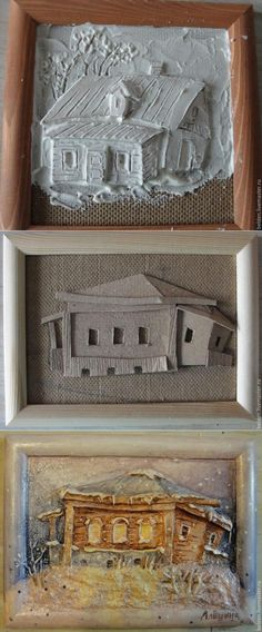 svoimi.rukami.klubokidei.com 3d Paper Crafts, Clay Crafts, Arts And Crafts, Paper Mache Clay, Paper Mache Sculpture, Art N Craft, Diy Art, Diy Crafts Slime, Pottery Handbuilding