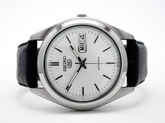 Dressy Seiko 5 Model SNX111 Best Looking Watches, Cool Watches, Watches For Men, Stylish Mens Fashion, Latest Mens Fashion, Seiko 5 Automatic Watch, Seiko Watches, Luxury Watches, Fashion Watches
