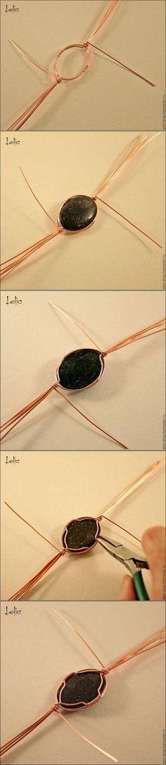 Мастер-класс по плетению кулона из медной проволоки (часть 1) - Ярмарка Мастеров - ручная работа, handmade