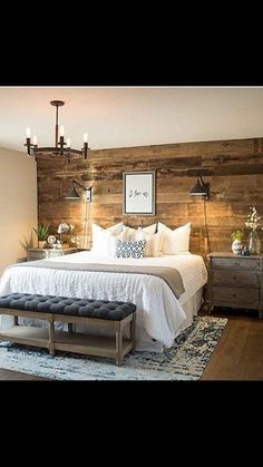 Saved by wendy simmons to master bedroom cozy comfy inviting regarding rustic bedroom decor Cozy Bedroom, Dream Bedroom, Home Decor Bedroom, Bedroom Ideas, Bedroom Furniture, Bedroom Inspo, Rustic Bedroom Design, Master Bedroom Makeover, Woman Bedroom
