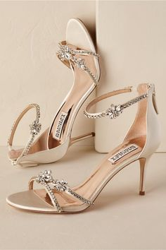 a2acc7599bfd29 Strappy Crystal Heel Gold in Bride