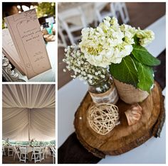 lovely rustic center piece