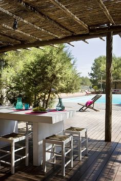 Summer House in Ibiza a Perfect Combinatión for a Privileged Few Outdoor Retreat, Outdoor Life, Outdoor Rooms, Outdoor Dining, Outdoor Gardens, Deck With Pergola, Pergola Patio, Gazebo, Backyard