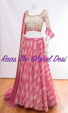 Chaniya choli 2018 Buy online beautiful designer collection -ghaghra choli navratri collection at best prices at RAAS THE GLOBAL DESI . Lehenga Gown, Lehenga Choli Online, Indian Lehenga, Indian Gowns, Anarkali, Churidar, Floral Lehenga, Lengha Choli, Indian Wear