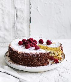 Cassata recipe - For sponge cake, preheat oven to and butter a cake tin and a x Swiss roll tin and line each with baking paper. Whisk eggs, sugar and a pinch of salt Italian Cassata Cake Recipe, Gourmet Recipes, Dessert Recipes, Italian Cake, Italian Desserts, Italian Dishes, Single Layer Cakes, Sponge Cake Recipes, Recipes