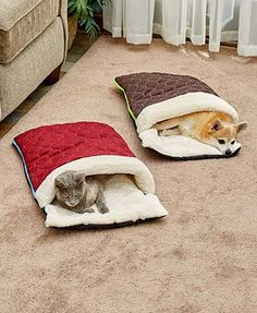 Quilted Snuggle Sack Pet Beds- Quilted Snuggle Sack Pet Beds Give your furry friend a taste of the high life with this Quilted Snuggle Sack Pet Bed. It keeps your dog or cat warm and cozy on all sides. Works best with sma - Diy Dog Bed, Pet Beds Diy, Dog Beds, Pet Beds For Dogs, Pet Furniture, Furniture Online, Furniture Layout, Furniture Companies, Furniture Ideas