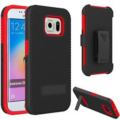 VAKOO For Samsung Galaxy S6 Edge Belt Clip Pouch Case Shockproof Drop Proof Heavy Duty Case Rugged Soft Silicone Dual Layer Holster Armor Cover with Kickstand and Locking Belt Swivel Clip for Samsung Galaxy S 6 Edge S VI RED Vakoo http://www.amazon.com/dp/B00XYIC95O/ref=cm_sw_r_pi_dp_bKpEvb06QA00R