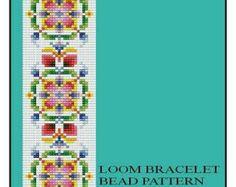 Bead Loom Vintage Motif 1 Antique Multi-Color Design Bracelet Pattern PDF