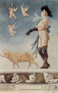 Pornocrates - Felicien Rops / 1896