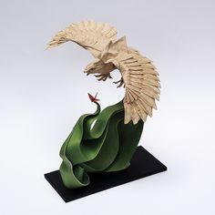 Eagle by Nguyen Hung Cường Origami, via Flickr - AMAZING FOLDING SKILLZZZZ
