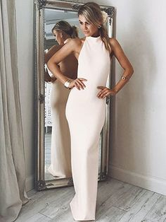 Discount Fetching Sexy Halter Long Slit Evening Dress With Backless Evening Dress Backless, Evening Dress Sexy Evening Dresses Prom Dresses Long Pink, Grad Dresses Short, Open Back Prom Dresses, Sexy Dresses, Evening Dresses, Pageant Dresses, Beautiful Dresses, Wedding Dresses, Over The Top