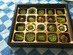 Green tea chocolates from Japan