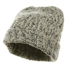 Designer Clothes, Shoes & Bags for Women Grey Beanie, Knit Beanie, Big Knits, Caps Hats, Cold Weather, Winter Outfits, Comfy, Wool, Knitting