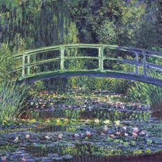 Water Lily Pond - Monet one of my all time favourite paintings ever ever I remember going to an impressionists exhibition at the Musee D'orsay in Paris and I dont know if this was here...but certainly where I fell in love with Monet :)