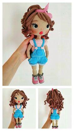 Knitting Dolls Free Patterns, Knitted Dolls Free, Doll Amigurumi Free Pattern, Crochet Doll Pattern, Amigurumi Doll, Crochet Fairy, Crochet Doll Dress, Crochet Projects, Free Crochet