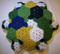 math crochet pillow