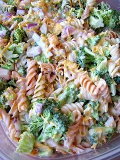 Copycat version of Walmart's Broccoli Cheddar Pasta Salad. Tastes just like the original! This broccoli salad will quickly become a family favorite!