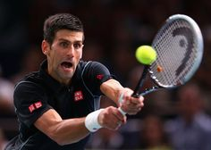 Novak Djokovic of Serbia in action against David Ferrer of Spain in the final during day seven of the BNP Paribas Masters at Palais Omnisports de Bercy on November 3, 2013 in Paris, France. (Photo by Julian Finney/Getty Images)
