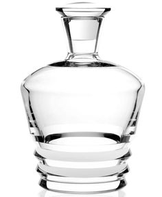 Baccarat Crystal Vega Whiskey Decanter The Vega whiskey decanter has a traditional silhouette with an unexpected geometrical feature at the base. The decanter Baccarat Crystal, Crystal Decanter, Crystal Glassware, Whisky, Drinkware, Barware, Whiskey Decanter, Cut Glass, Round Glass