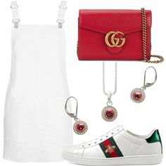 A fashion look from May 2017 featuring Topshop dresses, Gucci sneakers and Gucci shoulder bags. Browse and shop related looks.