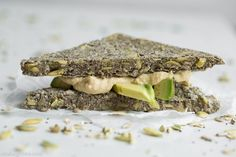 Sandwich Recipe: Super Power Chia Bread #glutenfree #recipes #vegan #healthy #sandwich #plantbased #whatveganseat