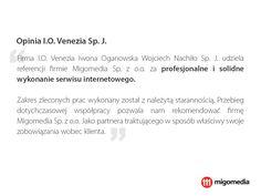 Opinia I.O. Venezia Sp.J. #migomedia