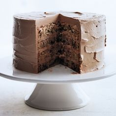 Chocolate Flecked Layer Cake with Milk Chocolate Frosting Recipe - Delish.com