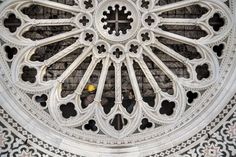 Measures are being taken to restore the central rose window of Duomo cathedral made by artist Lorenzo Ghiberti in the 15th century, in Florence, Italy.