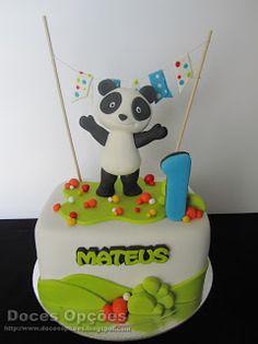 Doces Opções: O Panda no 1º aniversário do Mateus Bolo Fresco, Panda Cakes, 3rd Birthday, Baby Food Recipes, Amazing Cakes, Cake Toppers, Party Themes, Cake Decorating, Tasty
