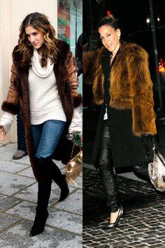Abrigo+de+piel+marrón