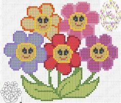 IL MIO AMORE PER PUNTO CROCE Easy Cross Stitch Patterns, Simple Cross Stitch, Cross Stitch Baby, Cross Stitch Flowers, Cross Stitch Designs, Cross Stitch Boards, Cross Stitch Needles, Beading Patterns, Crochet Patterns