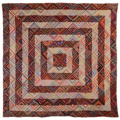 outstanding antique Log Cabin quilts - 1850 to 1969