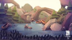 """다음 @Behance 프로젝트 확인: """"low poly landscapes"""" https://www.behance.net/gallery/35695749/low-poly-landscapes"""