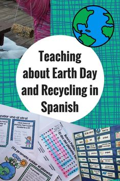 Teaching about Earth Day and Recycling in Spanish. List of YouTube videos, books, activities and crafts that you can use in your Spanish, Immersion or Bilingual class for el dia de la Tierra.  Actividades, videos, libros y mas para el dia del planeta Tier