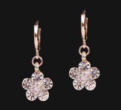 Sparkling Flower Earrings