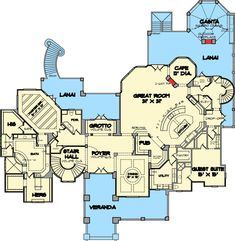Opulent Mediterranean Home Plan - 67126GL   European, Florida, Mediterranean, Exclusive, Luxury, Photo Gallery, 1st Floor Master Suite, Butler Walk-in Pantry, CAD Available, Den-Office-Library-Study, Elevator, Multi Stairs to 2nd Floor, PDF, Split Bedrooms   Architectural Designs