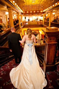 Bride's Entrance From the Alice in Wonderland Wedding at the Hotel Boulderado (Photo by Frances Photography)