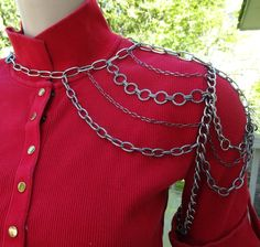 Steel Look Old & New Mix Shoulder Chain Necklace with by HCHeart, $25.00