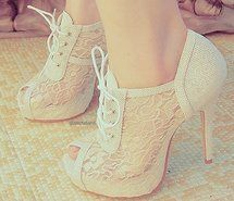 Spiked-heeled tie-up booties | Shoes* | Pinterest | Cool Rocks ...