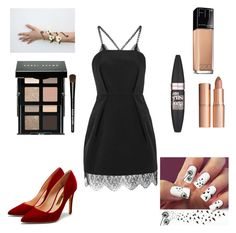 """""""What I'd wear to homecoming"""" by savannahtaylor950 on Polyvore featuring Topshop, Rupert Sanderson, Bobbi Brown Cosmetics, Maybelline and Charlotte Tilbury"""