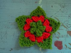 Ravelry: Crochet Puff-Centred Star by Penny Peberdy..Would make a pretty decoration!